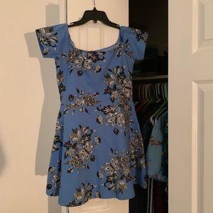 MOTEL ROCKS L floral bodycon dress
